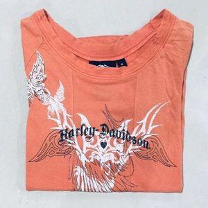 {Harley-Davidson}  🦋 🔥 Graphic Tee